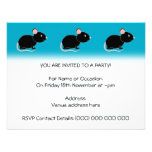 Black Mouse. Custom Invitation