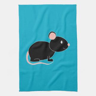 Black Mouse. Towel