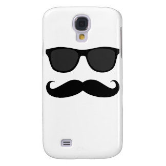 Black Moustache and Sunglasses Humour Gift Samsung Galaxy S4 Case