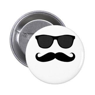 Black Moustache and Sunglasses Humour Gift Pinback Button