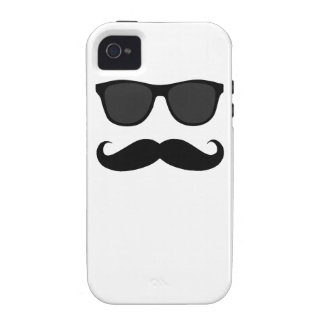 Black Moustache and Sunglasses iPhone 4/4S Covers