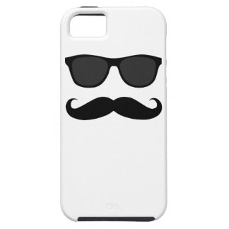 Black Moustache and Sunglasses iPhone 5 Cover
