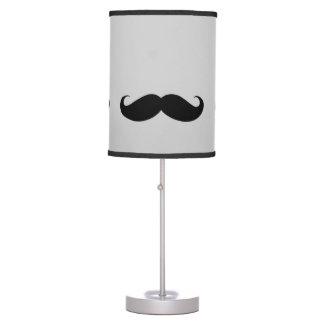 black moustache table lamp