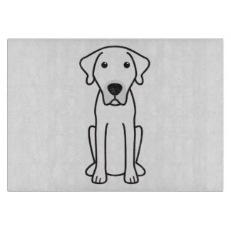 Black Mouth Cur Dog Cartoon Cutting Board