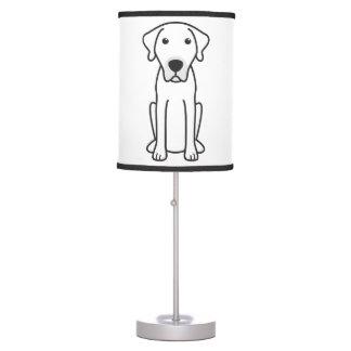 Black Mouth Cur Dog Cartoon Desk Lamp