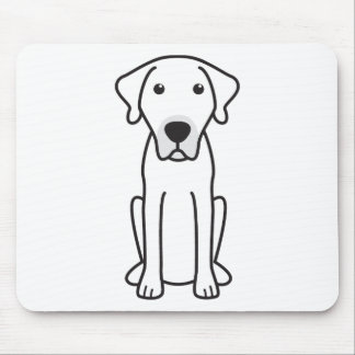 Black Mouth Cur Dog Cartoon Mouse Pad
