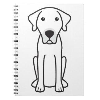 Black Mouth Cur Dog Cartoon Notebooks