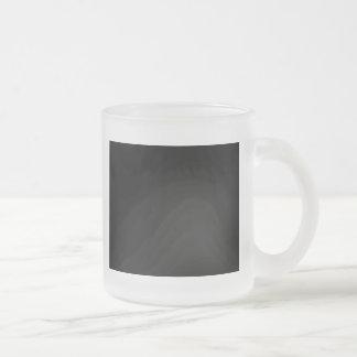 Black 10 Oz Frosted Glass Coffee Mug