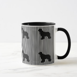 Black Multi Newfoundland dog coffee mug