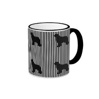 Black Multi Newfoundland dog coffee mug