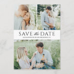 "Black multiple photos save the date<br><div class=""desc"">Looking for a photo save the date card with multiple photo? This product features mutiple photos for the front side with alternative backer with a single photo.</div>"