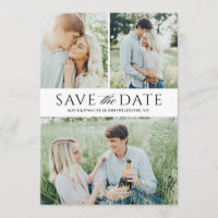 Black multiple photos save the date