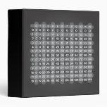 Black Multiplication Table Binder