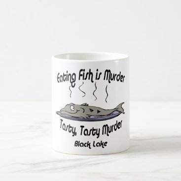 USA Themed black murder black coffee mug