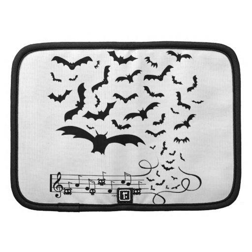 Black Music Bats Design Folio Planner