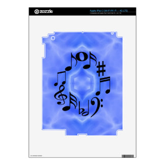 Black Music Note Keys Decal For iPad 3