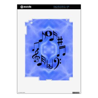 Black Music Note Keys iPad 2 Skin
