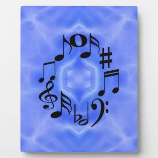 Black Music Note Keys Plaque