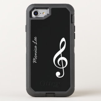black music note OtterBox defender iPhone 7 case