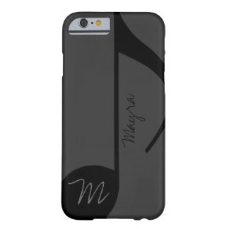 black music-note personalized barely there iPhone 6 case