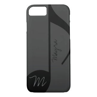 black music-note personalized iPhone 7 case