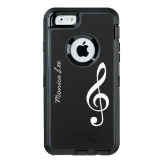 black music note personalized OtterBox defender iPhone case