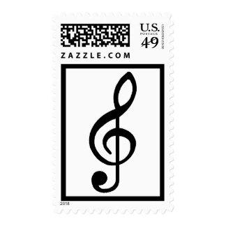 Black Music Note Postage