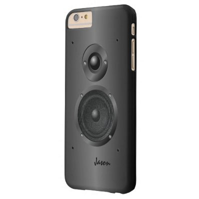 Black Music Sound Speaker Barely There iPhone 6 Plus Case