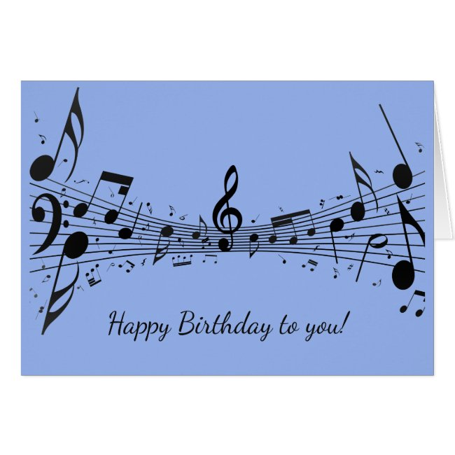 Black Musical Notes Design Greeting Card