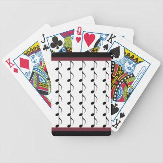 Black Musical Notes Card Deck