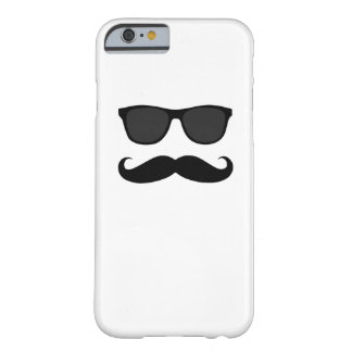 Black Mustache and Sunglasses Humor Gift Barely There iPhone 6 Case