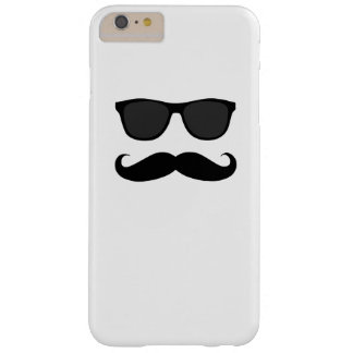 Black Mustache and Sunglasses Humor Gift Barely There iPhone 6 Plus Case