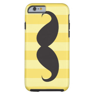 Black mustache and yellow stripes iPhone 6 case iPhone 6 Case