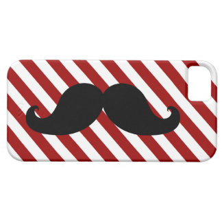 Black Mustache Aqua Red Stripes iPhone SE/5/5s Case