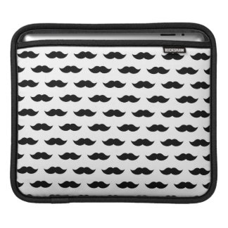 Black Mustache Background Sleeve For iPads