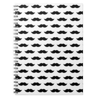 Black Mustache Background Note Book