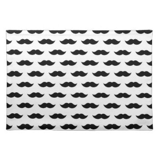 Black Mustache Background Placemat