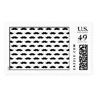 Black Mustache Background Postage Stamp