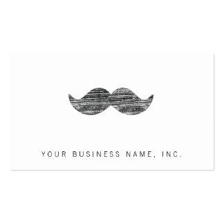 Black Mustache Business Card Template