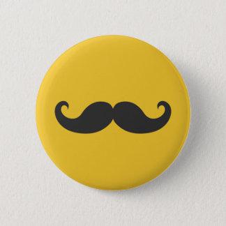 Black Mustache Button