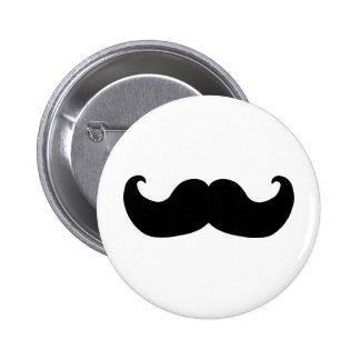 Black Mustache 2 Inch Round Button