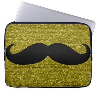 Black Mustache Computer Sleeve