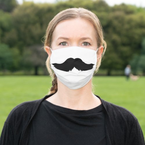 Black Mustache Funny Masculine Cloth Face Mask