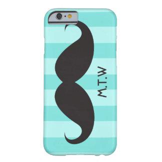 Black mustache monogram aqua iPhone 6 case iPhone 6 Case