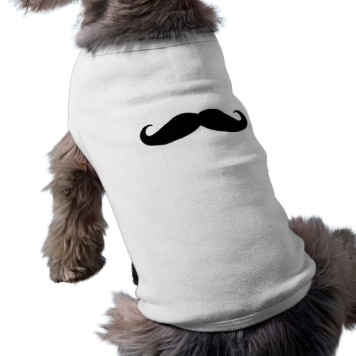 Black Mustache or Black Moustache for Fun Gifts Doggie Tshirt