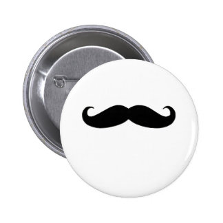 Black Mustache or Black Moustache for Fun Gifts Pinback Button