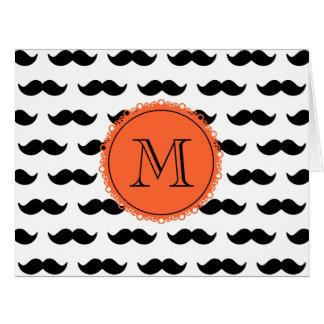 Black Mustache Patmustache pattern coral black.png Card
