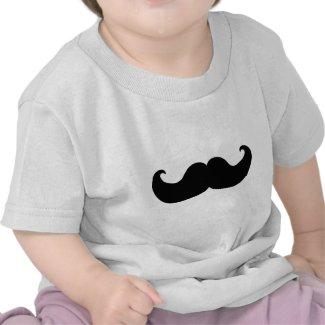 Black Mustache T Shirt