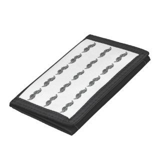 Black Mustache Tri-fold Wallet
