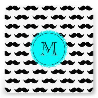 Black Mustachmustache black circle aqua 00ffff png Personalized Invitation